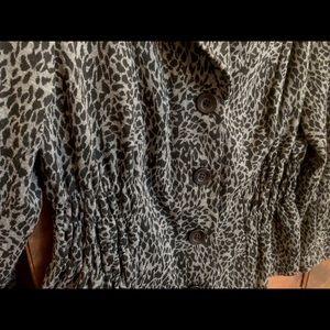 Sunny Leigh Jackets & Coats - Sunny Lee Grey Leopard Print Jacket